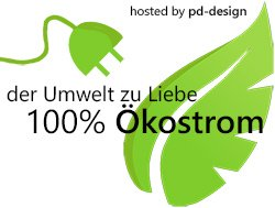 hosted by pd-design: 100% Ökostrom